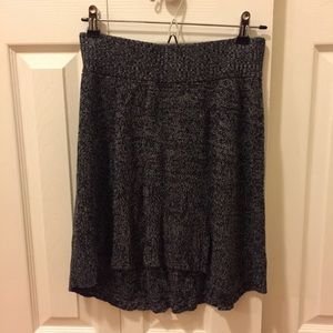 Gray and Black Knit Skirt